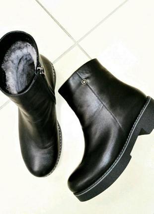 Ботинки женские кожаные на меху