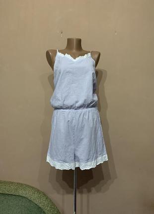 Пижама комбинезон ( с шортами ) размер m l 36 38 коттон очень красивый