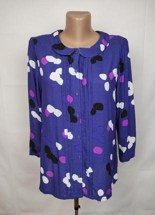 Блуза рубашка стильная натуральная в принт white stuff uk 10/38/s