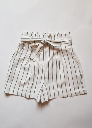 Стильные женские шорты,летние шорты,шорты в полоску,шорты с высокой посадкой