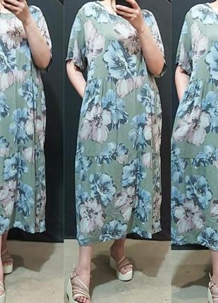Шикарные платтяв цаеты, вискоза, люкс качество,ог до 122.
