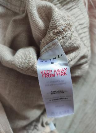 Льняные шорты лен натуральные2 фото