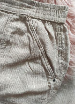 Льняные шорты лен натуральные3 фото