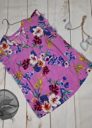 Блуза легкая красивенная в цветочный принт uk 14/42/l