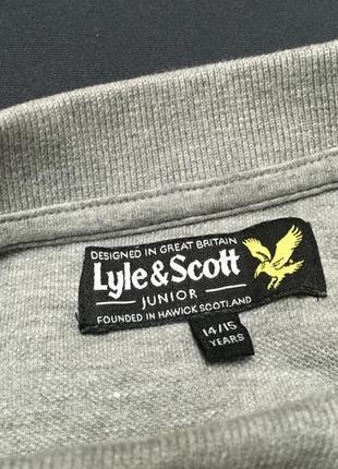 Lyle & scott поло с длинным рукавом /оригинал реглан на 14 - 15 лет9 фото
