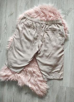 Льняные шорты лен натуральные4 фото