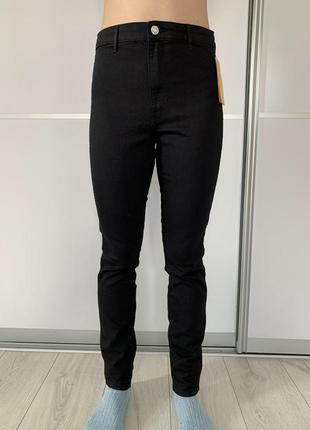 Новые черные джинсы skinny, джинсы скинни, черные облегающие джинсы.
