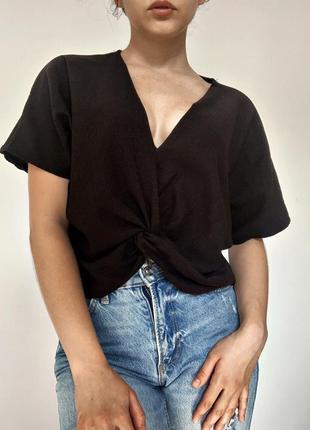 Чёрная женская блузка от zara /чорна блузка від zara