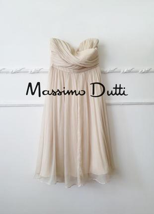 Платье massimo dutti 100% шёлк, новoe с бирками