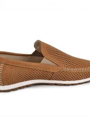 Мокасины, туфли мужские, натуральная кожа и нубук, цвет табак3 фото