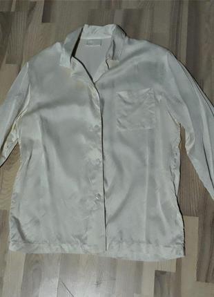 Блуза в піжамному стилі, натуральний шовк, шелк