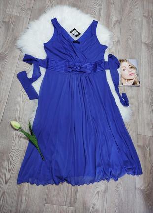 Женское летнее нарядное платье сарафан ниже колена
