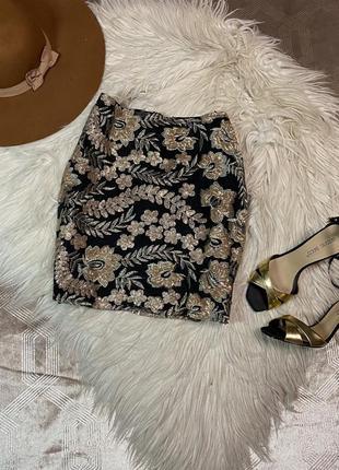 Шикарная юбка размер l