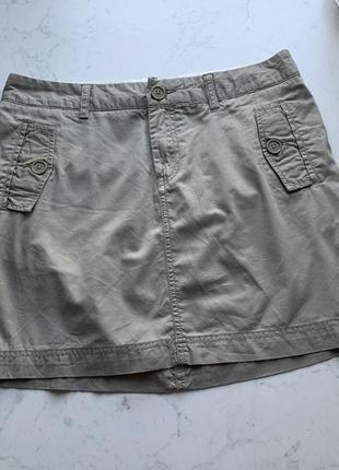 Юбка карго хаки с карманами gap размер 8 (36)