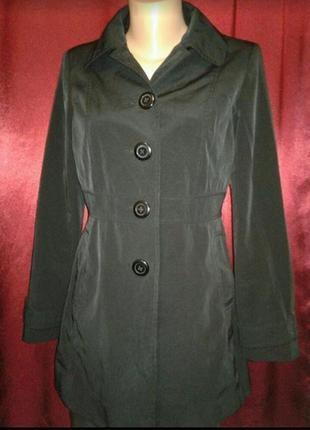 Демисезонная удлиненная куртка пальто ветровка плащ тренч