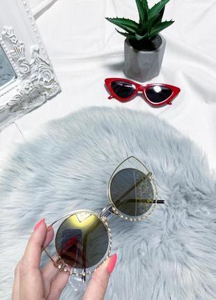 Новые круглые зеркальные очки 👓1 фото