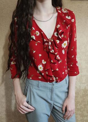 Яркая блуза, лето р. s/m