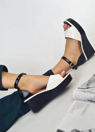 Босоножки лак  🌿 танкетка платформа сланцы сандалии сабо