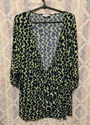Яркая блуза большой размер 28 30