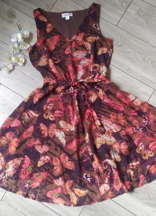 Романтическое шифоновое платье в принт бабочки от linea tesini, p.m.