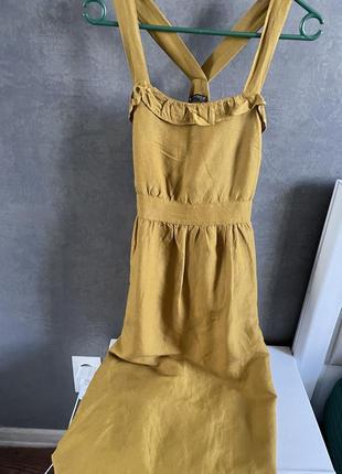 Платье zara лен s
