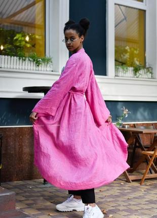 Кимоно - платье лён