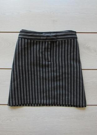 №2 актуальная юбка в полоску рубчик от h&m