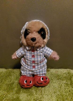 Мягкая игрушка сурикат олег в пижаме