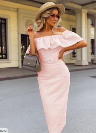Сукня міді з прошви
