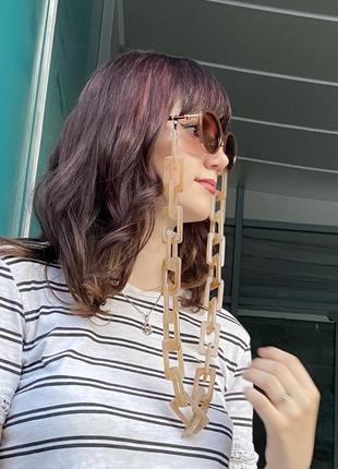 Женские солнцезащитные очки овальные линзы с градиентом и поляризацией в пластиковой оправе коричневые