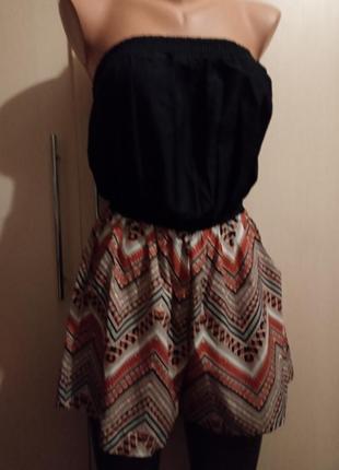 Красивый ромпер с карманами на резинке в этно восточном стиле комбинезон костюм