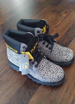 Новые ботинки caterpillar под пони оригинал микро нюанс оригинал анималистический принт2 фото