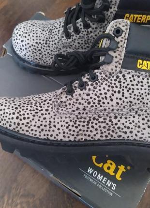 Новые ботинки caterpillar под пони оригинал микро нюанс оригинал анималистический принт5 фото