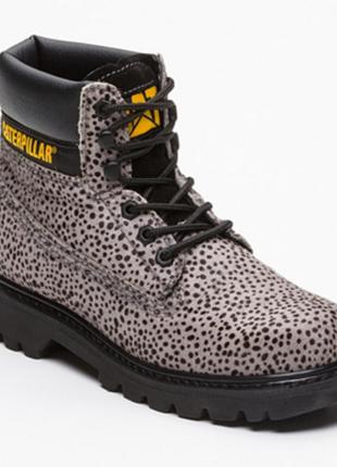 Новые ботинки caterpillar под пони оригинал микро нюанс оригинал анималистический принт7 фото