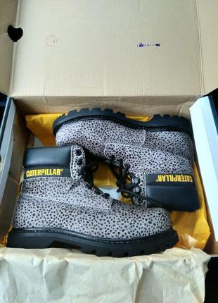 Новые ботинки caterpillar под пони оригинал микро нюанс оригинал анималистический принт8 фото
