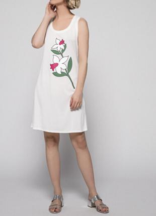Новое платье twin-set в принт цветы туника твин сет быстросохнущее пляжное платье
