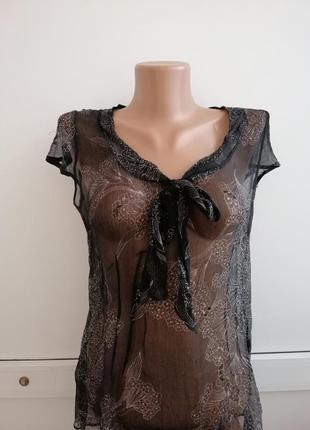 Блуза женская чёрная тонкая