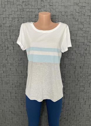 Белая футболка хлопок + модал blue motion