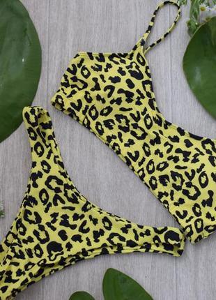 Купальник желтый леопардовый