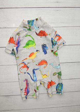 Солнцезащитный костюм/комбинезон для пляжа/купания от next, для мальчика 3-6 мес.