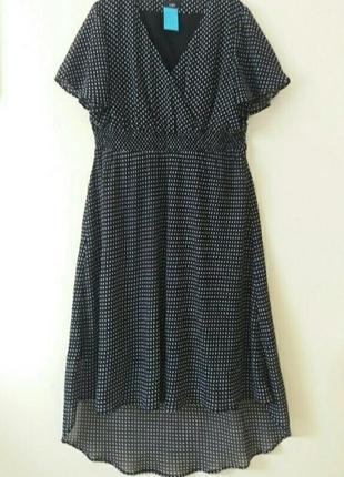 Супер красивое платье батал в горошек