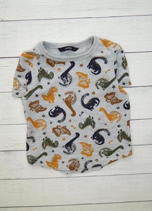Хлопковая футболка с динозаврами от george, для мальчика 1,5-2 года. 86-92 рост.