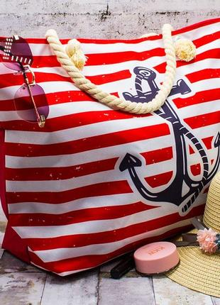 Пляжная сумка якорь 55х40х15