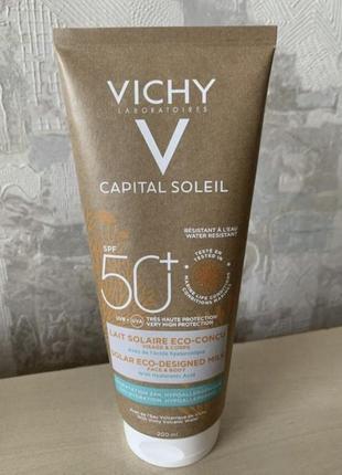 Солнцезащитное молочко spf50 capital soleil vichy 200 ml