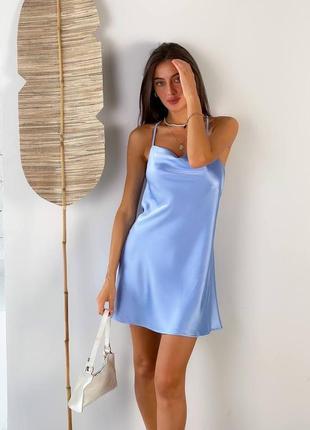 Крутое короткое платье в стиле zara, атласное платье, на бретелях, 5 цветов