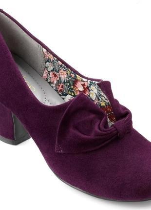 Стильные замшевые туфли под винтаж.