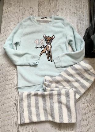 Тёплая мягкая пижама disney