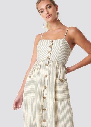 Лляний сарафан-плаття emilia від mango