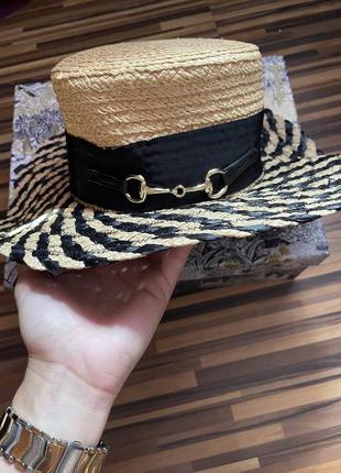 Шляпка солома люкс