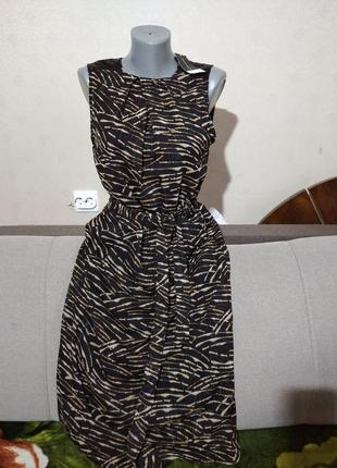 Отличное  платье анимал принт dp uk12, евро 40, наш 46/48